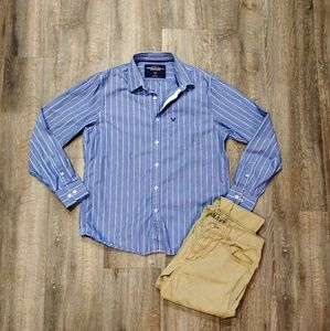 American Eagle Striped Vintage Fit Button Down